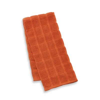 Kitchensmart® 18-Inch x 28-Inch Solid Kitchen Towel in Kumquat