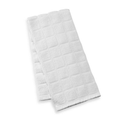 Kitchensmart®18-Inch x 28-Inch Solid Kitchen Towel in White