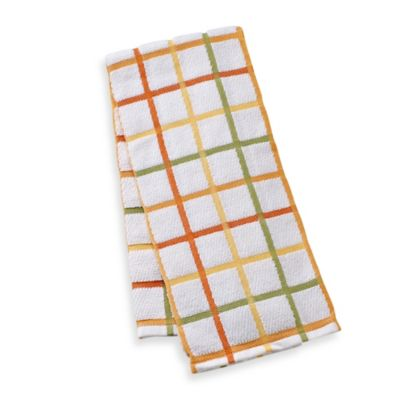 Kitchensmart® 18-Inch x 28-Inch Plaid Kitchen Towel in Garden