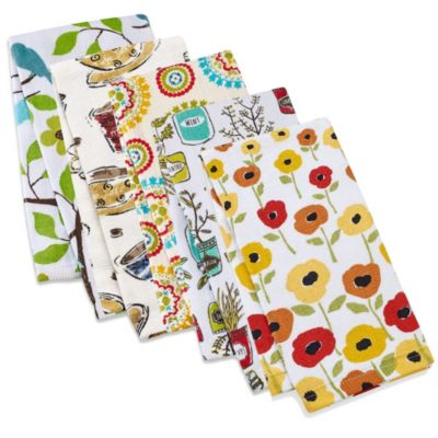 Kitchensmart® Kitchen Towel in Summer Birds Print