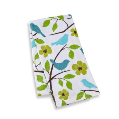 Kitchensmart® 16-Inch x 26-Inch Kitchen Towel in Birds and Bloom Print