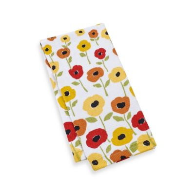 Kitchensmart® 16-Inch x 26-Inch Kitchen Towel in Flower Print