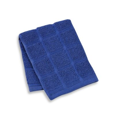 Kitchensmart® 13-Inch x 14-Inch Solid Dish Cloth in Navy