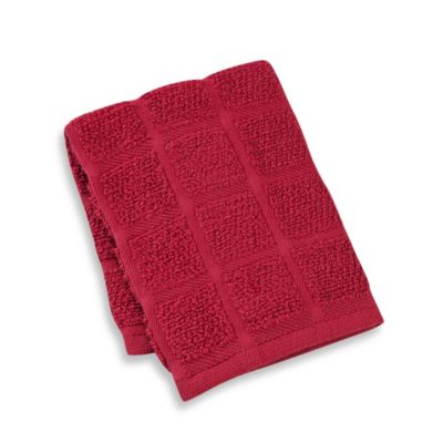Kitchensmart® 13-Inch x 14-Inch Solid Dish Cloth in Ming Red