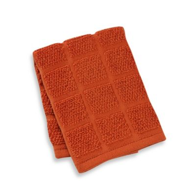 Kitchensmart® 13-Inch x 14-Inch Solid Dish Cloth in Kumquat