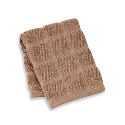 Kitchensmart® 13-Inch x 14-Inch Solid Dish Cloth in Mocha