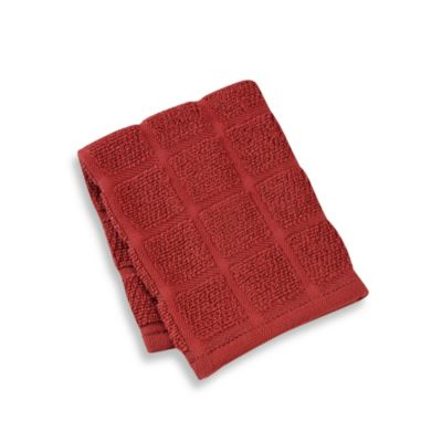 Kitchensmart® 13-Inch x 14-Inch Solid Dish Cloth in Brick