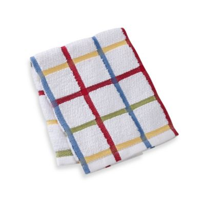 "Kitchensmart® 13"" x 14"" Plaid Dish Cloth in Paprika"