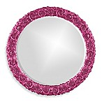 Howard Elliot Glossy Rosalie Wall Mirror in Hot Pink