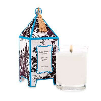 Seda France™ Japanese Quince Classic Toile 10 oz. Large Pagoda Candle