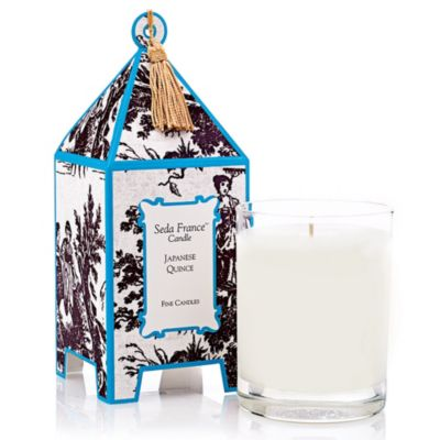 Seda France™ Japanese Quince Classic Toile 2 oz. Mini Pagoda Candle