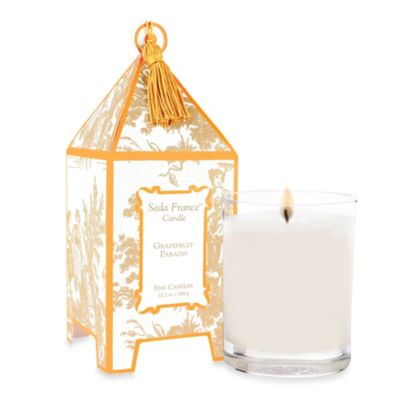 Seda France™ Grapefruit Paradis Classic Toile 10 oz. Large Pagoda Candle