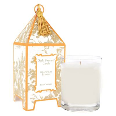 Seda France™ Grapefruit Paradis Classic Toile 2 oz. Mini Pagoda Candle