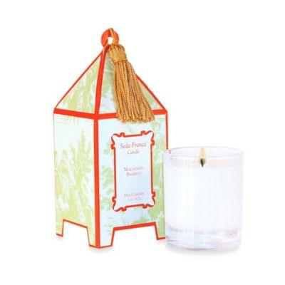 Seda France™ Malaysian Bamboo Classic Toile 2 oz. Mini Pagoda Candle
