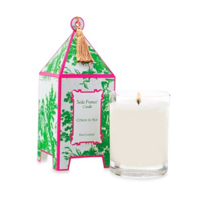Seda France™ Citron Du Sud Classic Toile 10 oz. Large Pagoda Candle