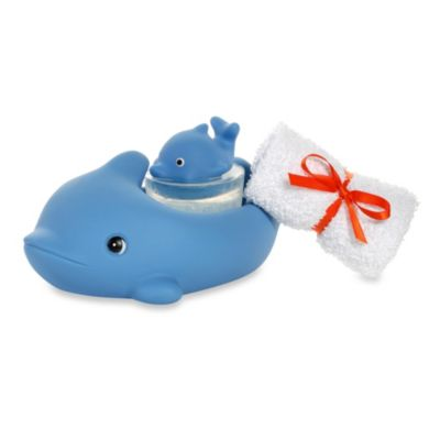 Clearly Fun Bath Buddy Dolphin Set in Blue