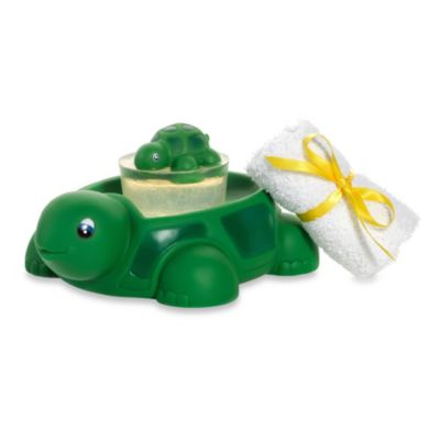 Clearly Fun Bath Buddy Green Turtle Set