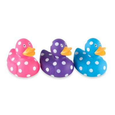 Clearly Fun Polka Dot Rubber Duck