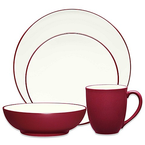 Noritake® Colorwave Coupe 4-Piece Place Setting in Raspberry