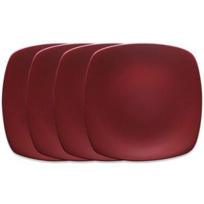Noritake® Colorwave Mini Quad Plates in Raspberry (Set of 4)