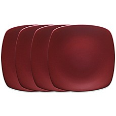 Noritake® Colorwave Mini Quad Plates in Raspberry (Set of 4)