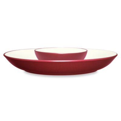 Noritake® Colorwave Chip and Dip in Raspberry