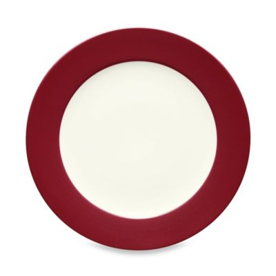Red Stoneware Dinner Plates