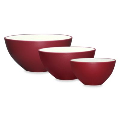 Noritake® Colorwave 3-Piece Mixing Bowl Set in Raspberry