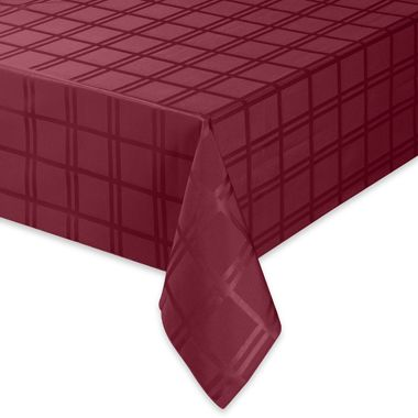 Origins Microfiber Tablecloth - 60-Inch x 84-Inch Oblong - Ruby