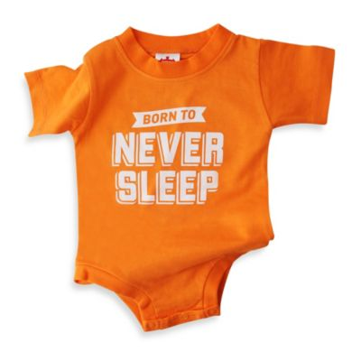 Wry Baby Size 6-12M Never Sleep Bodysuit in Orange