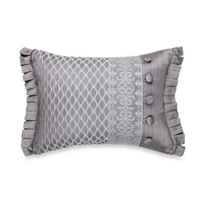 J. Queen New York™ Luxembourg Boudoir Throw Pillow in Antique Silver