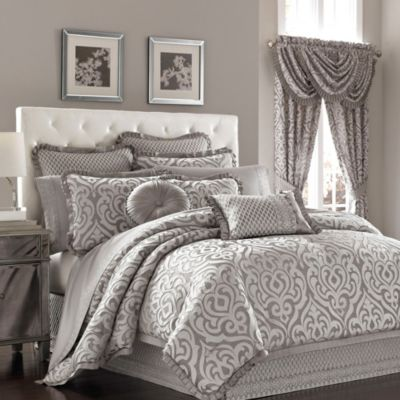 J. Queen New York™ Luxembourg King Duvet Cover Set in Antique Silver