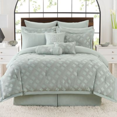 Satin Lattice 12-Piece Full Comforter Set