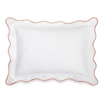 Barbara Barry Dream Peaceful Pique Poppy Boudoir Throw Pillow