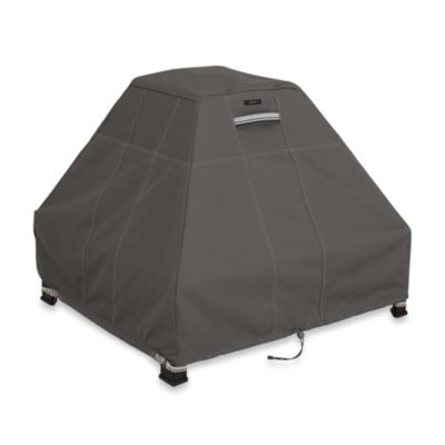 Classic Accessories® Ravenna Fire Pit Stand-Up Cover in Dark Taupe