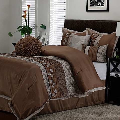 Riley Comforter Set In Taupe Bed Bath Amp Beyond