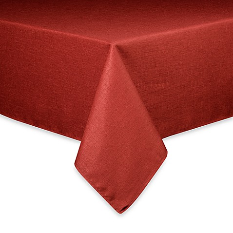 Buy Basketweave Tablecloth 90 Inch Round Cherry From