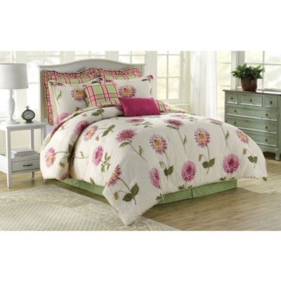 Soho New York Home Dahlia 8-Piece King Comforter Set in Pink