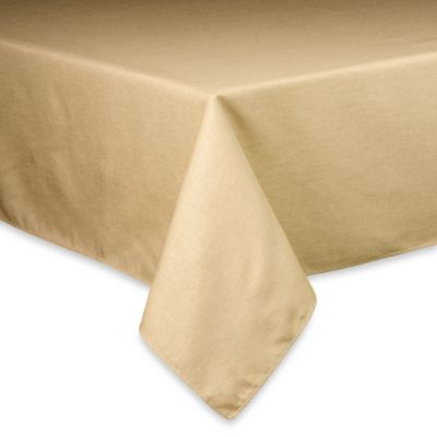 Basketweave Tablecloth - 60-Inch x 102-Inch - Birch