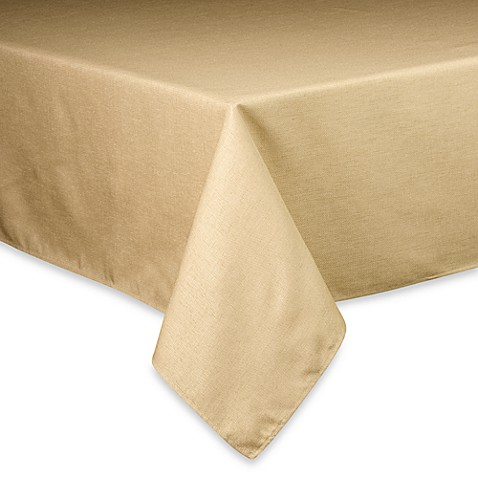 Basketweave Tablecloth - 60-Inch x 84-Inch Oval - Birch