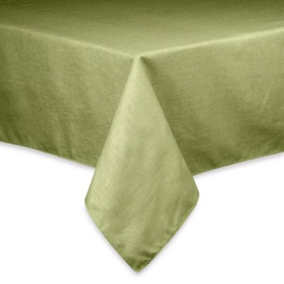 Basketweave Tablecloth - 52-Inch x 70-Inch - Sage