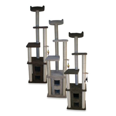 Family Cat 2-Story Condo with Sky Lookout in Brown
