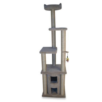Family Cat 2-Story Condo with Sky Lookout in Tan