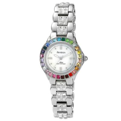 Armitron® Women's Rainbow Crystal Bracelet Watch