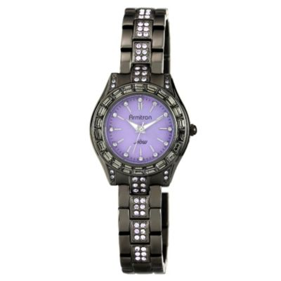 Armitron® Women's Purple Swarovski Crystal Bracelet Watch