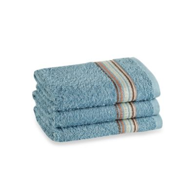 Revere Mills Bathsol Brigade Hand Towels In Powder Blue (Pack of 3)