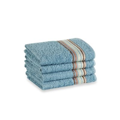 Revere Mills Bathsol Brigade Wash Cloths in Powder Blue (Pack of 4)