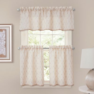 Crystal Brook 52-Inch x 24-Inch Window Curtain Tier Pair in Ivory