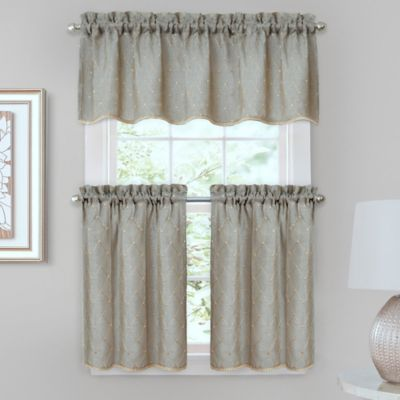 Crystal Brook Window Curtain Tier Pair in Blue