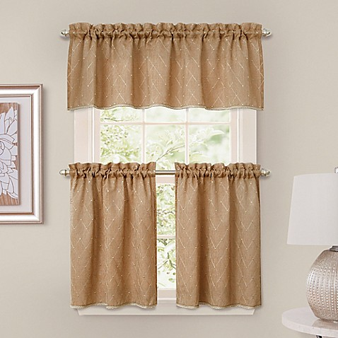 Buy Crystal Brook Window Curtain Tier Pair In Spice From